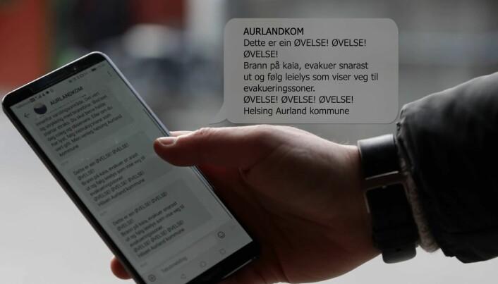 Varsling kun via sms er for sårbart (foto: Paneda)