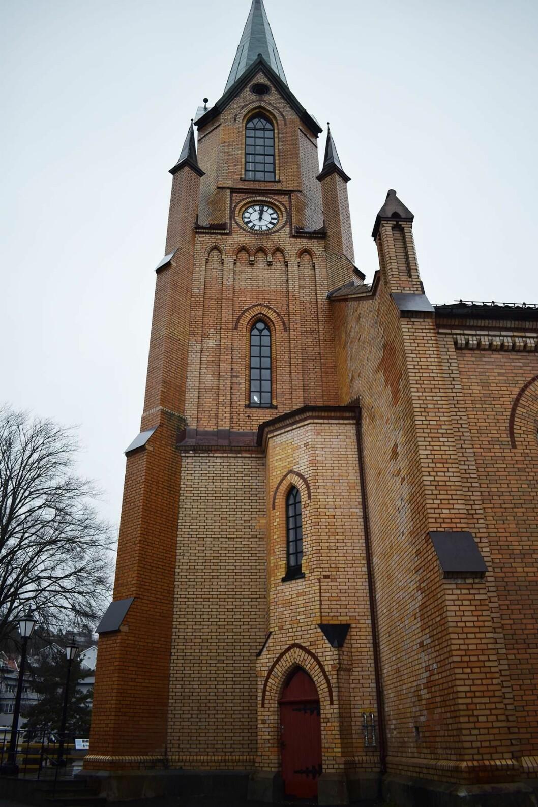 Kragerø kirke er fra 1870, og har mye verdifullt inventar som er eldre (foto: VID Fire-Kill).
