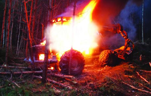 Ikke krav til brannsikring av anleggsmaskiner