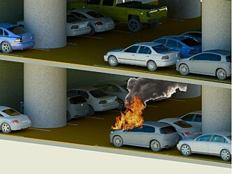 Er brannsikkerheten ivaretatt i underjordiske parkeringshus?