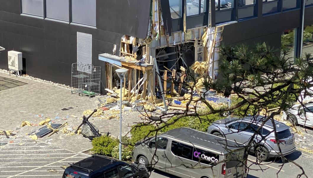 Eksplosjonen forårsaket store skader (foto:Tor Erik Schrøder/NTB Scanpix).: