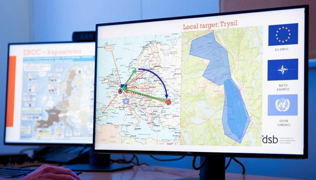 DSB øver på å be om bistand fra EU (foto: Olberg/DSB).
