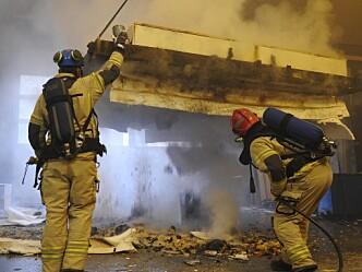 Testing av brannmotstand i bærende bjelkelag hos RISE Fire Research