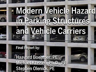 Ny rapport om branner i parkeringshus