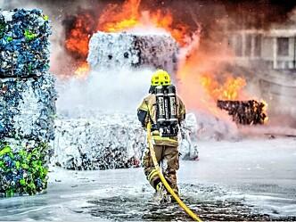 Før tilsynsaksjonen: Det finnes en veileder for brannsikkerhet på avfallsanlegg