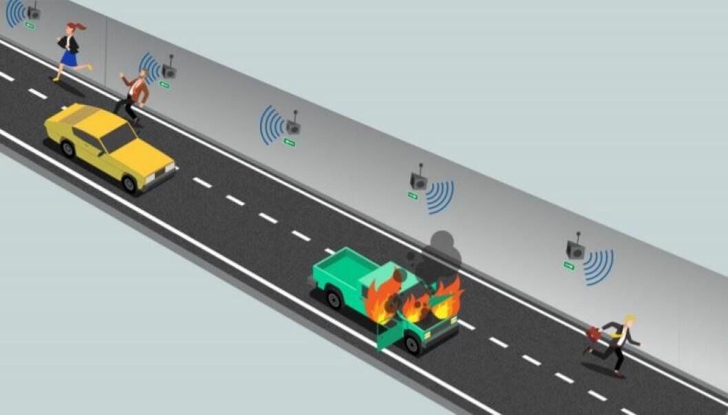 VTS styrer Evacsound utfra hvilken retning bilistene skal evakuere ut av tunnelen.