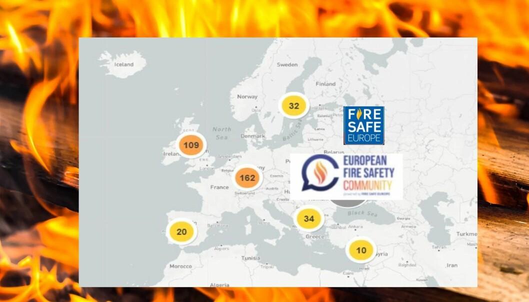 Fire Safe Europe lanserte European Fire Safety Community i 2019 - et forum for utveksling av kunnskap og erfaringer når det gjelder brannsikkerhet i bygninger.