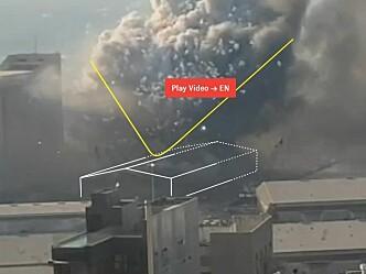 Hva skjedde i Beirut? Nå er det laget en 3D-animasjon av hendelsesforløpet