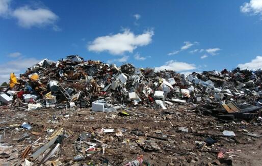 Høy brannrisiko ved avfall- og gjenbruksanlegg