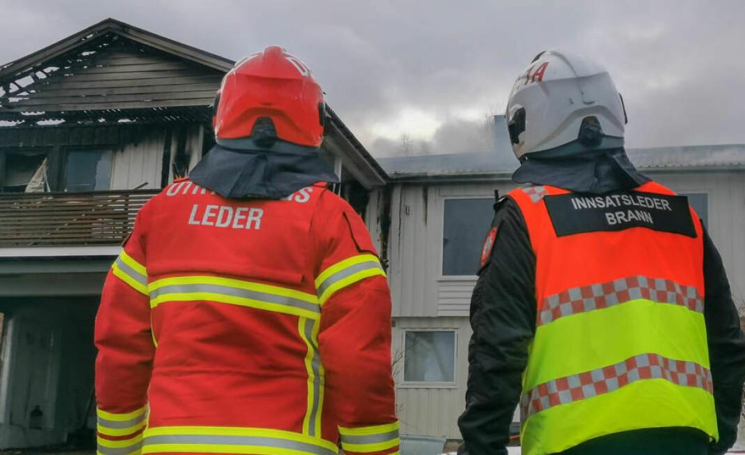 Iherdig innsats fra brannmannskapene hindret en større brannspredning.