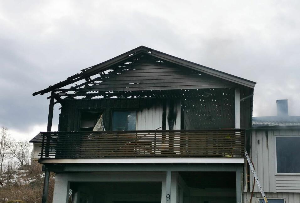Ingen kom heldigvis til skade i huset som tok fyr.