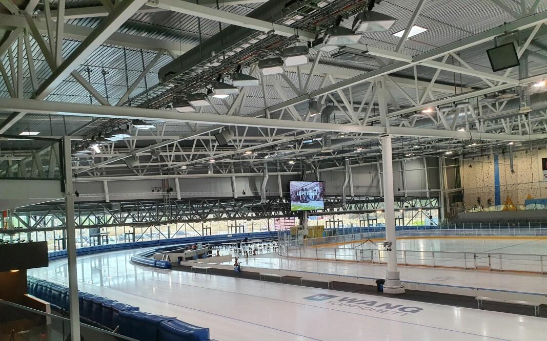 Sørmarka Arena innvendig, slik den framstår i ordinær drift.