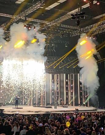 MGP-finalen bød på et forrykende show med røyk- og pyroeffekter, i brannsikre omgivelser.