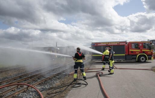 Brann- og redningsetaten har fått ressurser til redningsinnsats som går på skinner