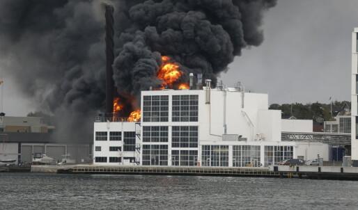 Jotun fabrikker i brann på dagen 45 år etter storbrann
